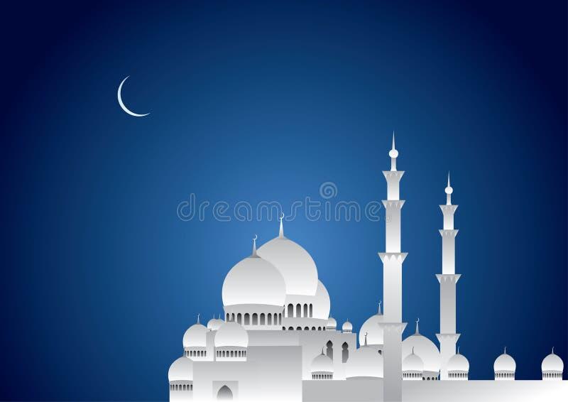 Ramadan Night. With Blue sky
