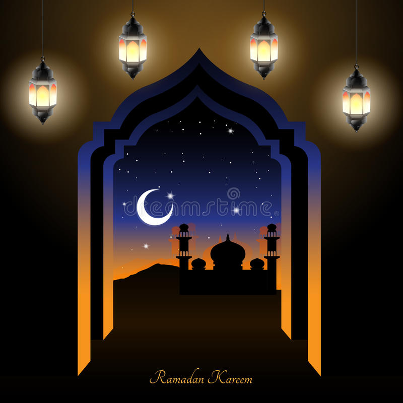 Download Ramadan night stock vector. Illustration of islam, star - 92632075