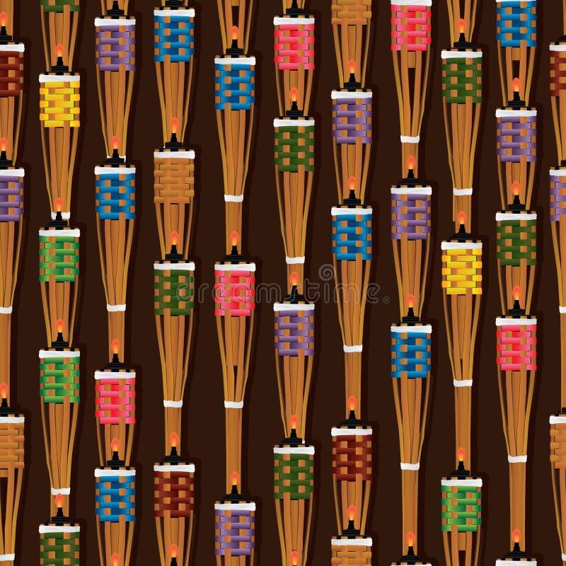 Ramadan Obor Puluh Pelita vertikal sömlös modell royaltyfri illustrationer