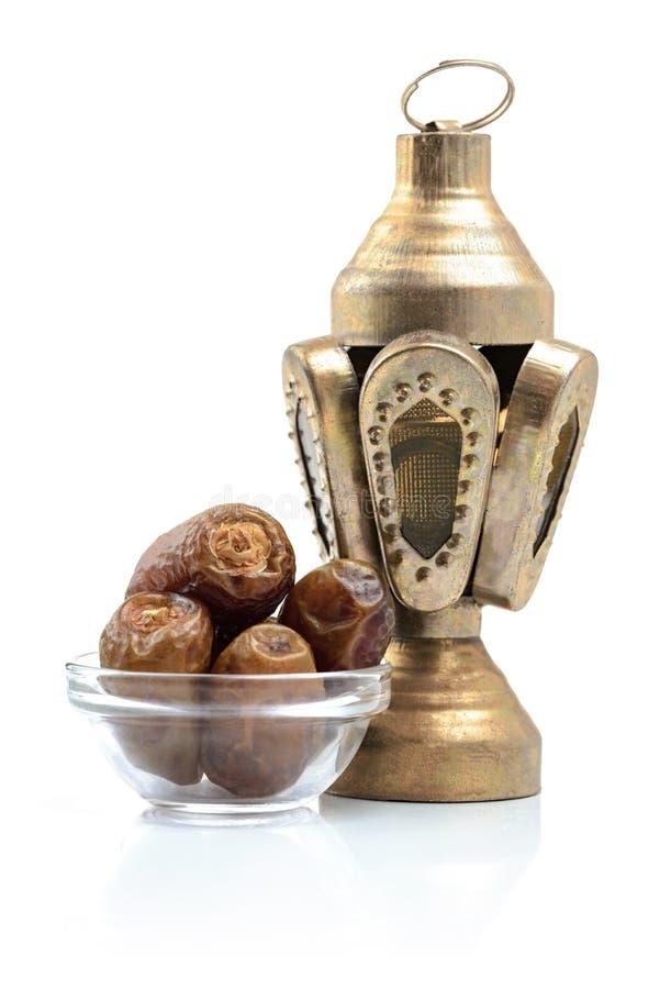 Ramadan Ritual Islamic Traditional Items ha isolato immagini stock