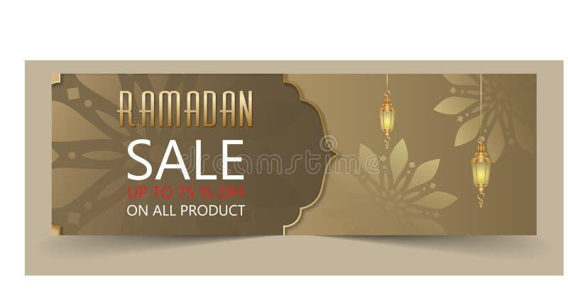 Ramadan sale banner stock illustration