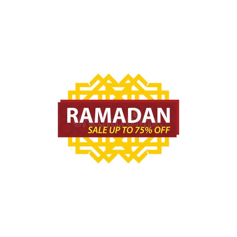 Ramadan Sale Design Vector, calibre moderne illustration stock