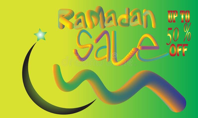 Ramadan Sale-Fahnenschablonenentwurf, großer Verkauf spezielles bis 50% weg Auch im corel abgehobenen Betrag lizenzfreie abbildung