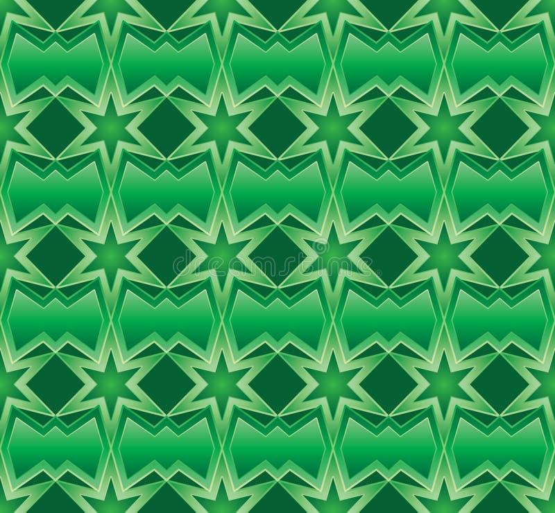 Ramadan sechs nahtloses Muster der Sternsymmetrie stock abbildung