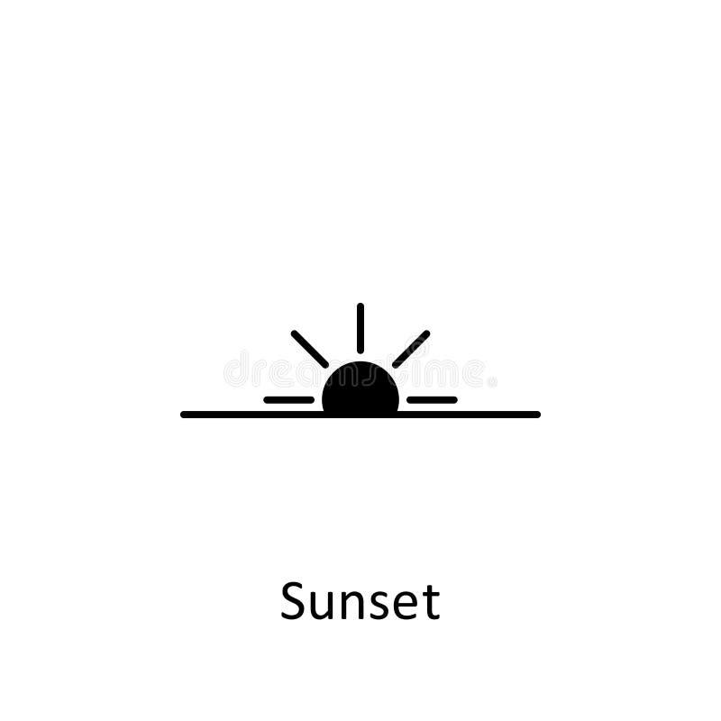 Ramadan-Sonnenuntergangikone Element der Ramadan-Illustrationsikone Moslem-, Islamzeichen und Symbole können für Netz, Logo, mo stock abbildung