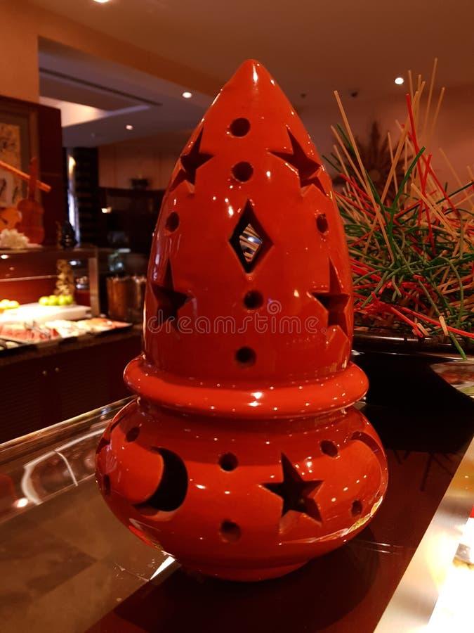 Designed clay pot stock photo