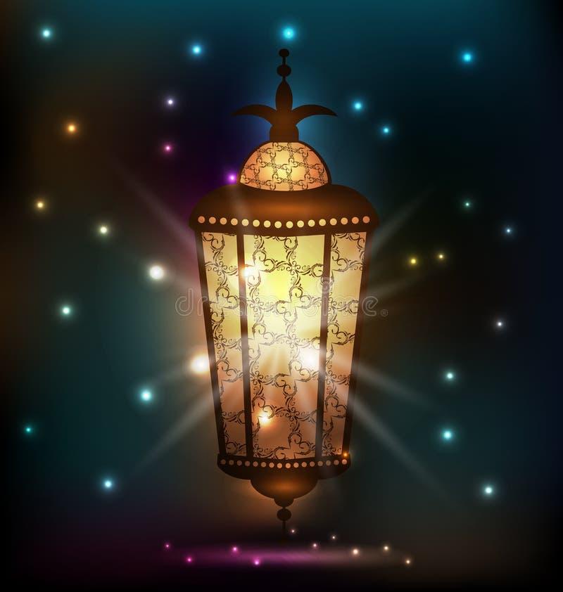 Ramadan tło z arabskim lampionem