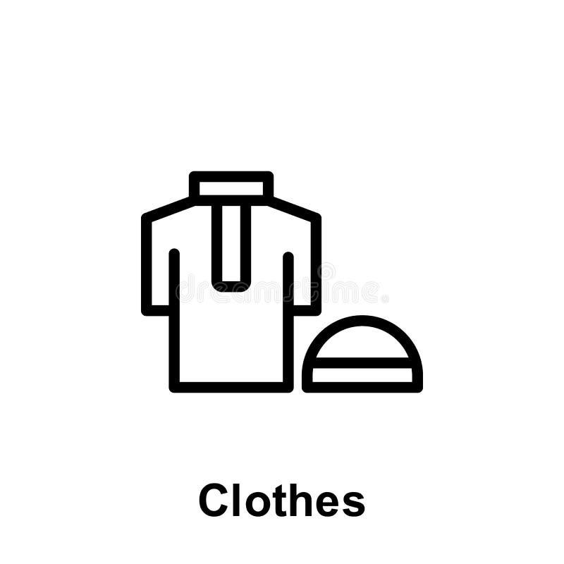 Ramadan ubra? konturu ikona Element Ramadan dnia ilustracji ikona Znaki i symbole mog? u?ywa? dla sieci, logo, mobilny app, ilustracja wektor