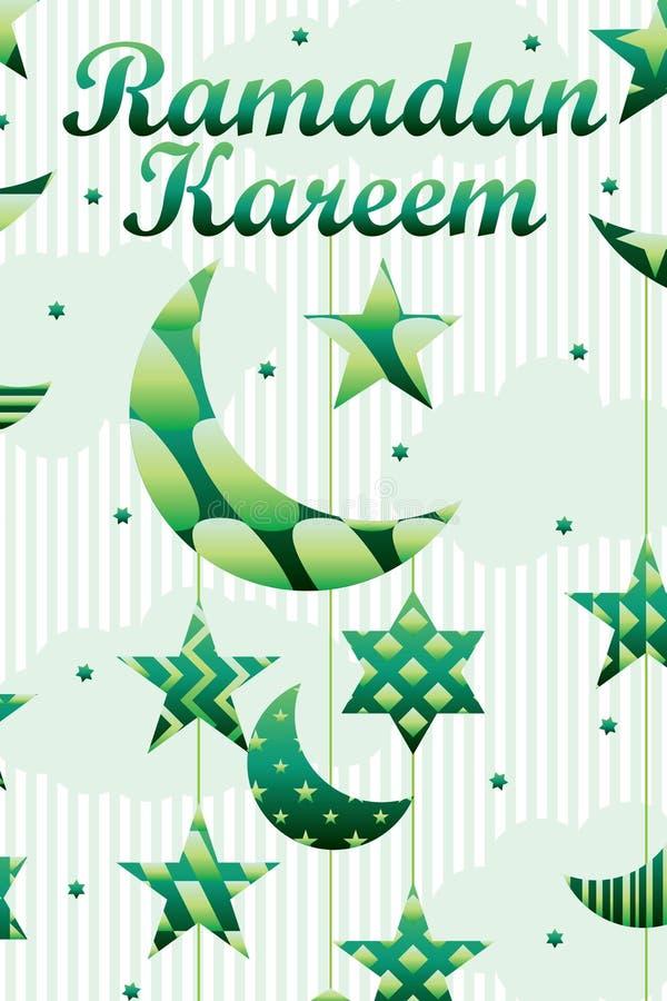 Ramadanbeståndsdelsnittet behandla som ett barn det mobila stilkortet vektor illustrationer