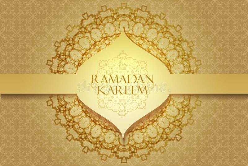 Ramadanhälsningsbakgrund vektor illustrationer