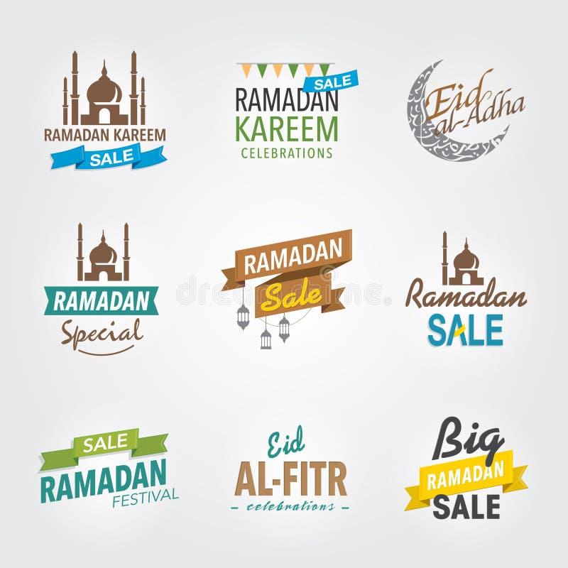 Ramadanhälsningstitelrad vektor illustrationer
