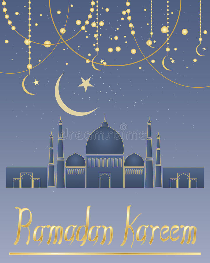 Ramadankaart stock illustratie