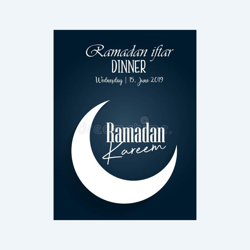 Ramadankareem som h?lsar det islamiska halvm?nformigt f?r mall och den arabiska lyktavektorillustrationen Arabiska gl?nsande lamp stock illustrationer