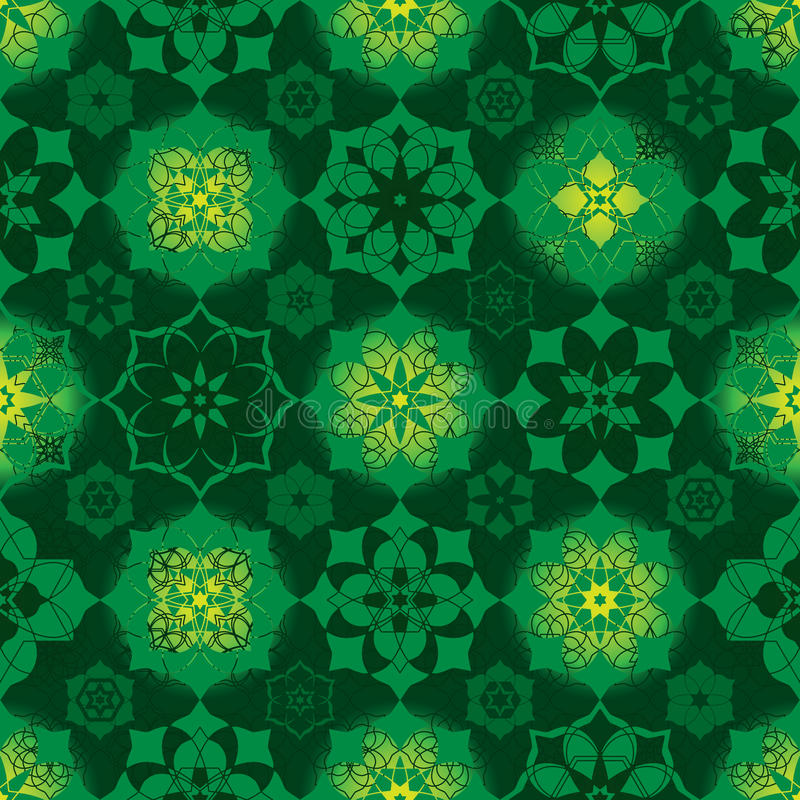 Ramadanster velen het naadloze patroon van de symmetrie birght cirkel royalty-vrije illustratie