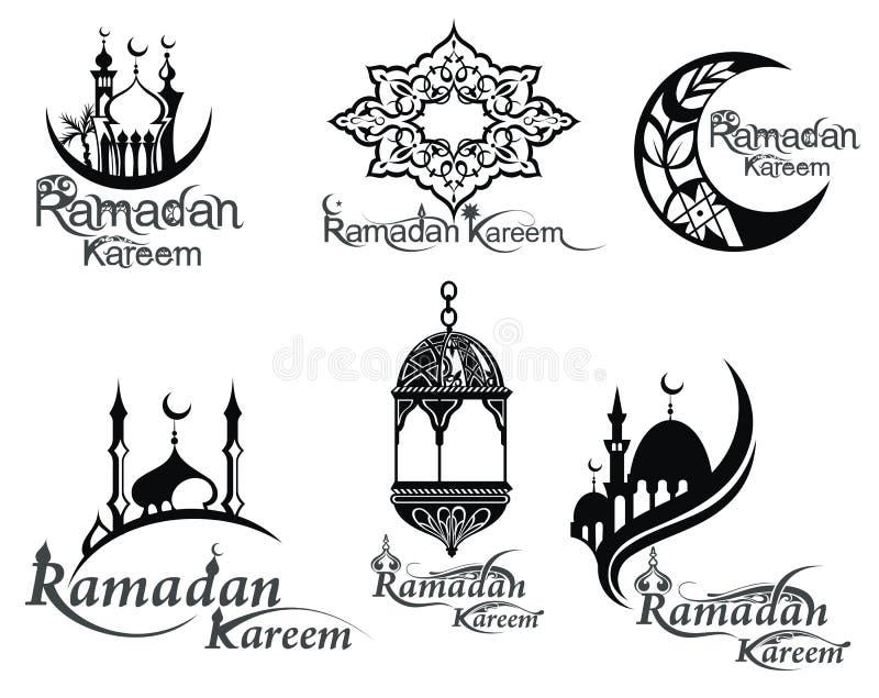 Ramadansymbolsuppsättning royaltyfri illustrationer
