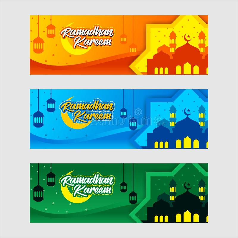 Ramadhan banerdesign vektor illustrationer