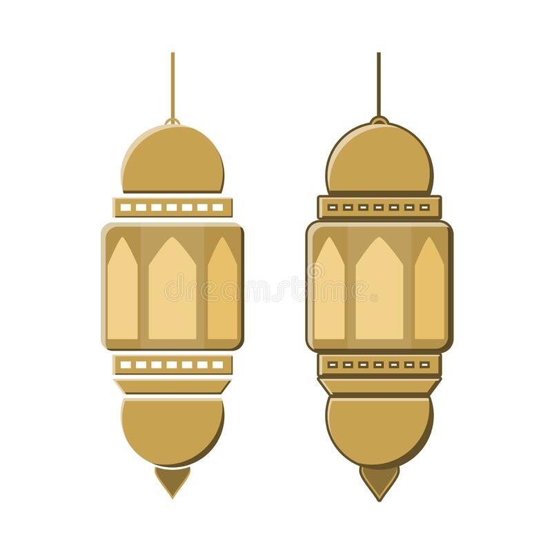Ramadhan item  with paper cut style royalty free stock photography