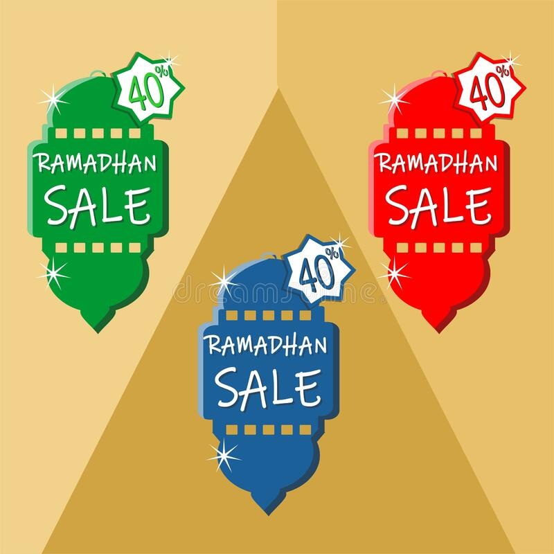 Ramadhan sale item with paper cut style royalty free stock photo