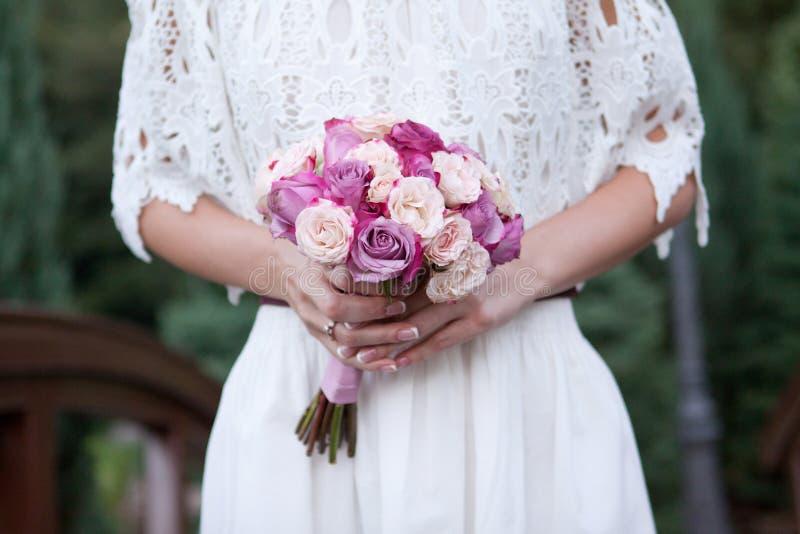 Ramalhete bonito do casamento para a noiva imagem de stock royalty free