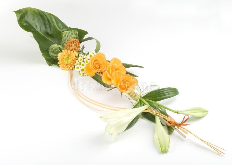 Ramalhete com rosas e lírio fotografia de stock
