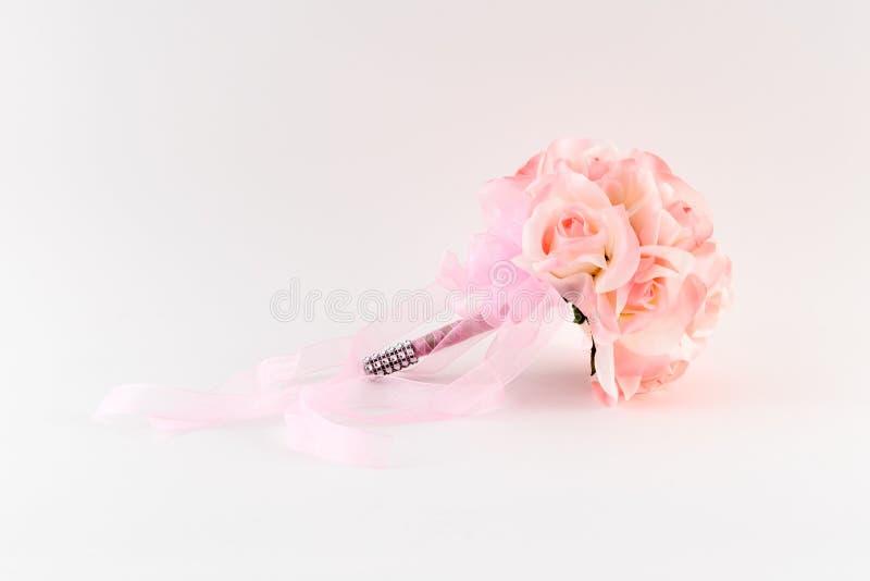 Ramalhete cor-de-rosa do florista fotos de stock royalty free