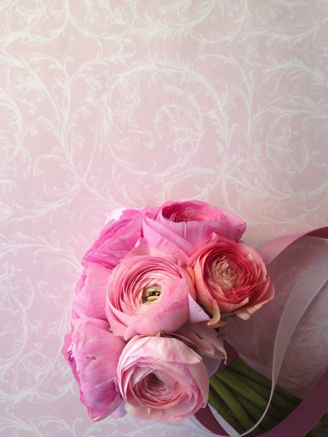Ramalhete cor-de-rosa do ranúnculo fotos de stock