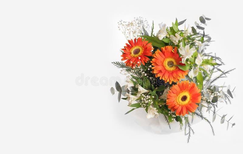 Ramalhete da flor no cinza foto de stock royalty free