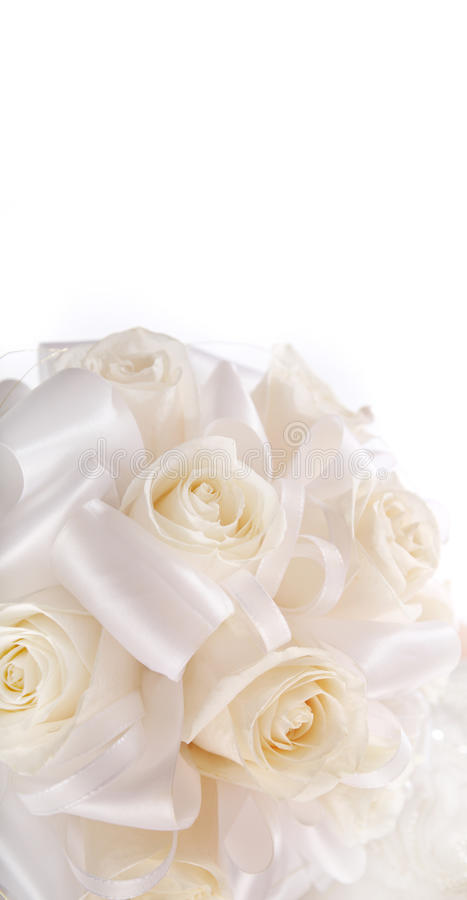 Ramalhete da noiva das rosas cremosas ilustração do vetor