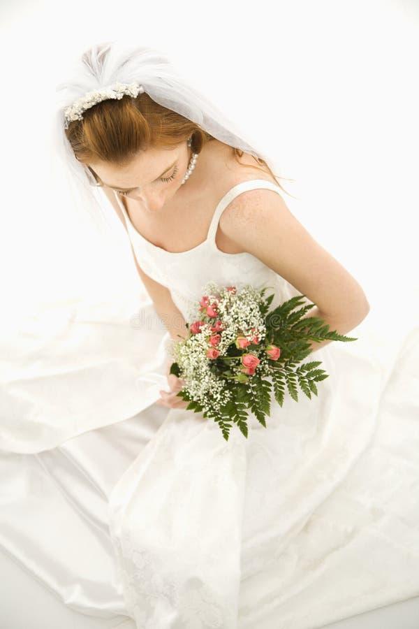 Ramalhete da terra arrendada da noiva. foto de stock royalty free