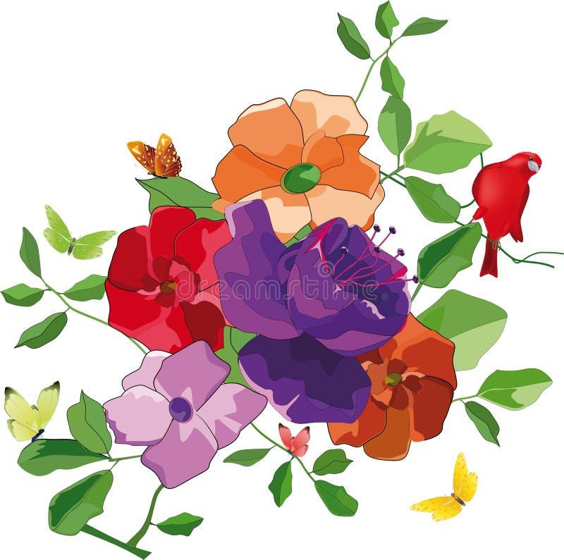 Ramalhete das flores ilustração do vetor