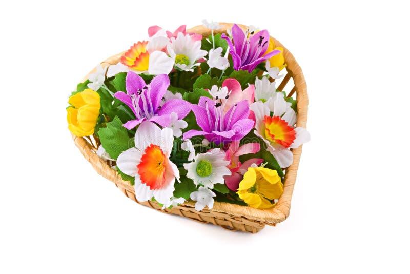 Ramalhete das flores, isolado no branco imagens de stock royalty free