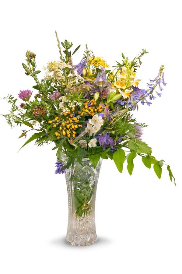 Ramalhete das flores selvagens isoladas fotos de stock