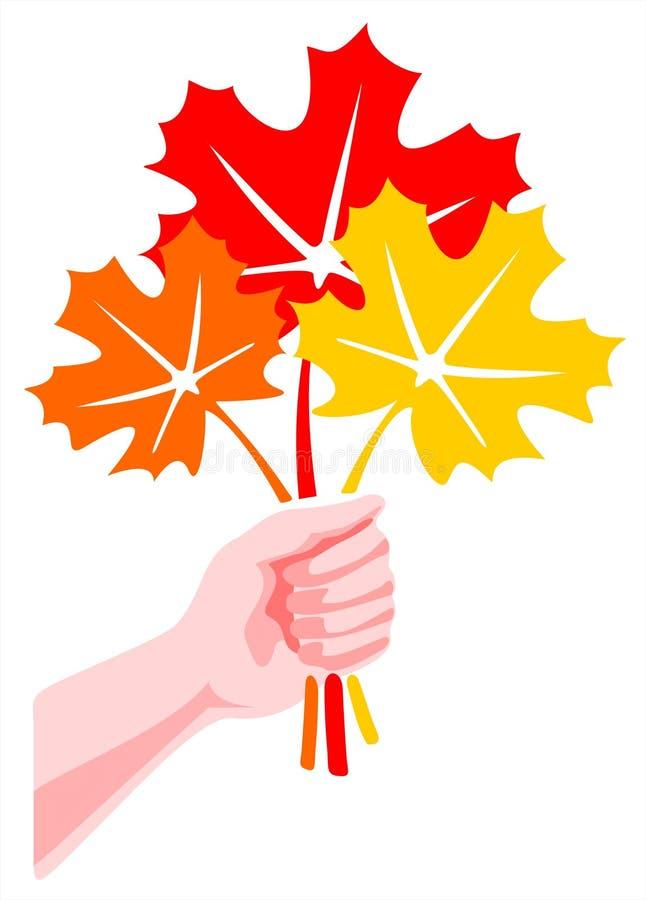 Ramalhete das folhas ilustração do vetor