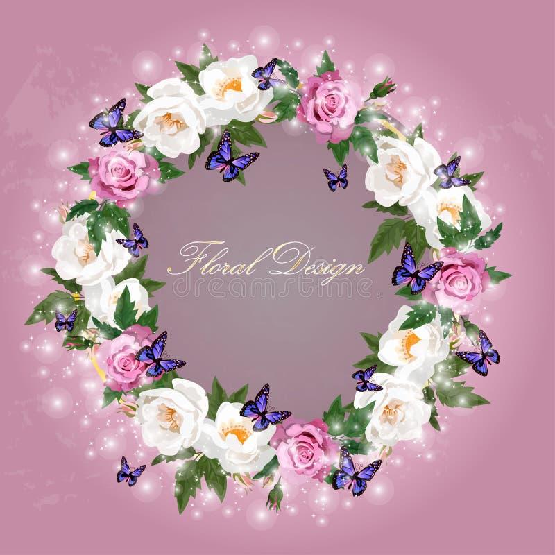 Ramalhete das rosas ilustração royalty free