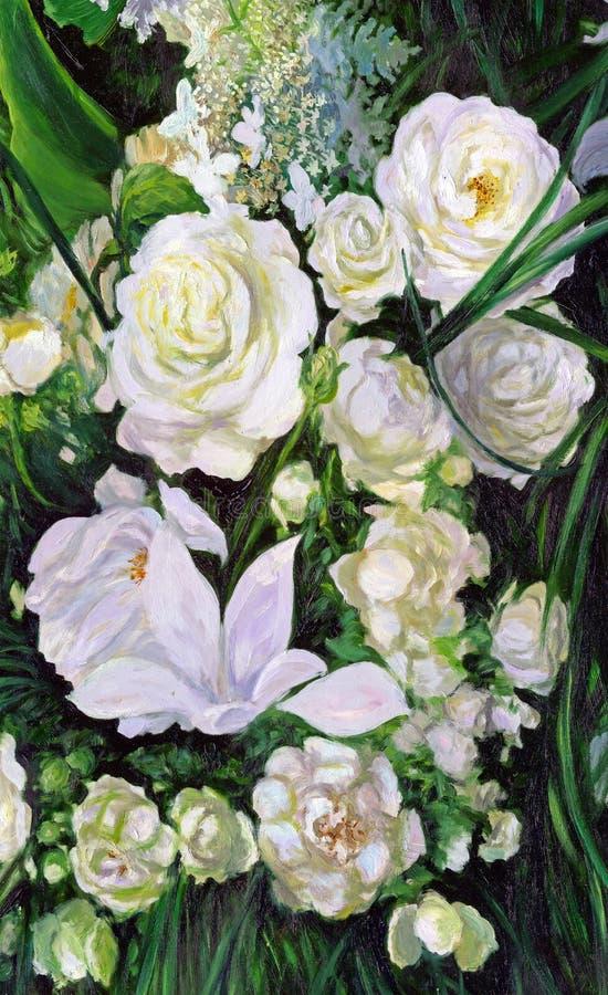 Ramalhete das rosas brancas fotos de stock royalty free