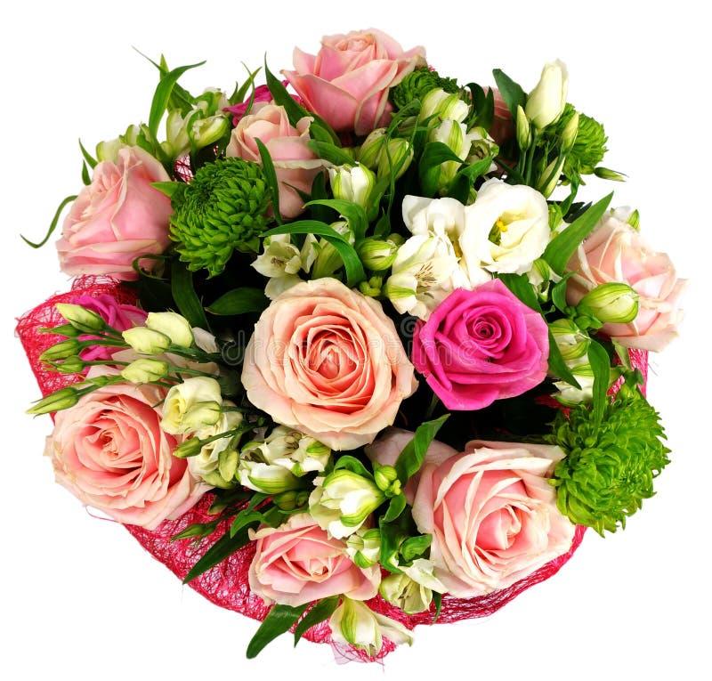 Ramalhete das rosas e dos crisântemos fotografia de stock