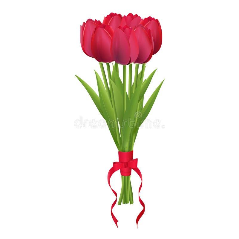 Ramalhete das tulipa-rosas fotografia de stock