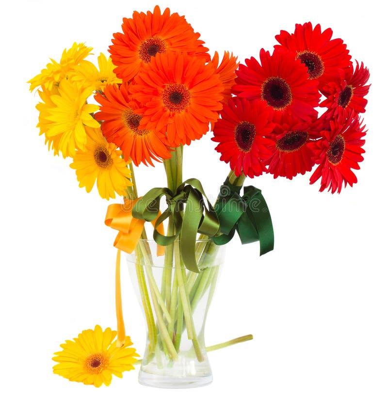 Ramalhete de flores do gerbera no vaso imagem de stock royalty free