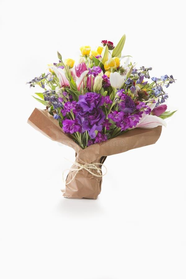 Ramalhete de flores misturadas imagens de stock