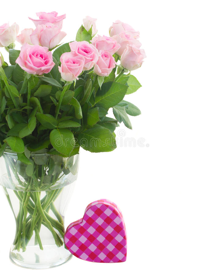 Ramalhete de rosas frescas foto de stock royalty free