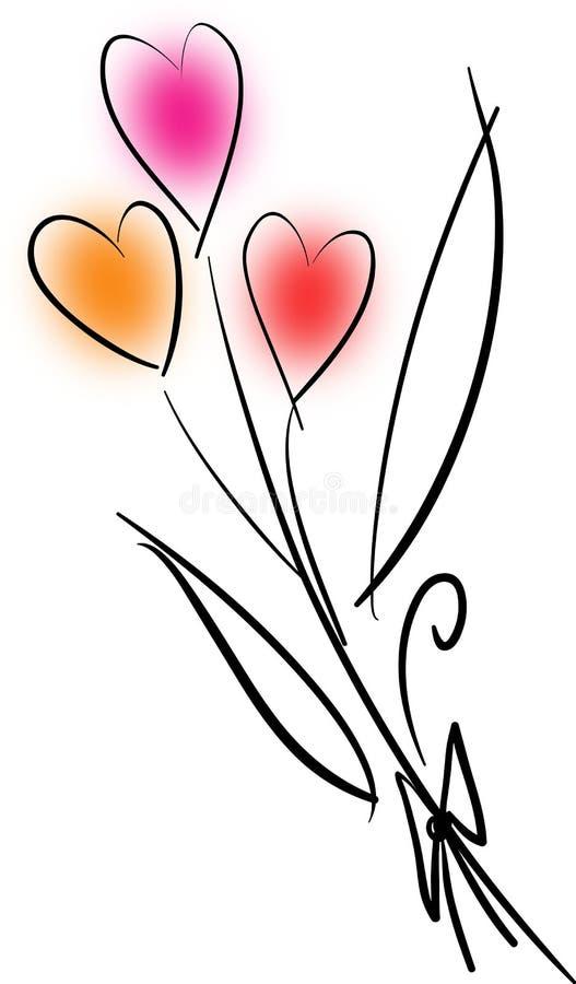 Ramalhete do amor imagens de stock
