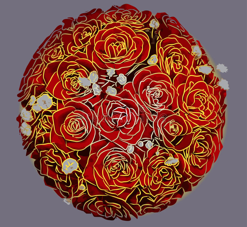 Ramalhete do balão de rosas vermelhas imagem de stock royalty free