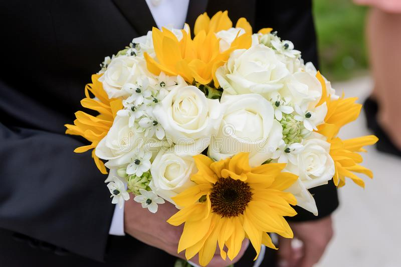 Ramalhete do casamento do girassol imagem de stock royalty free