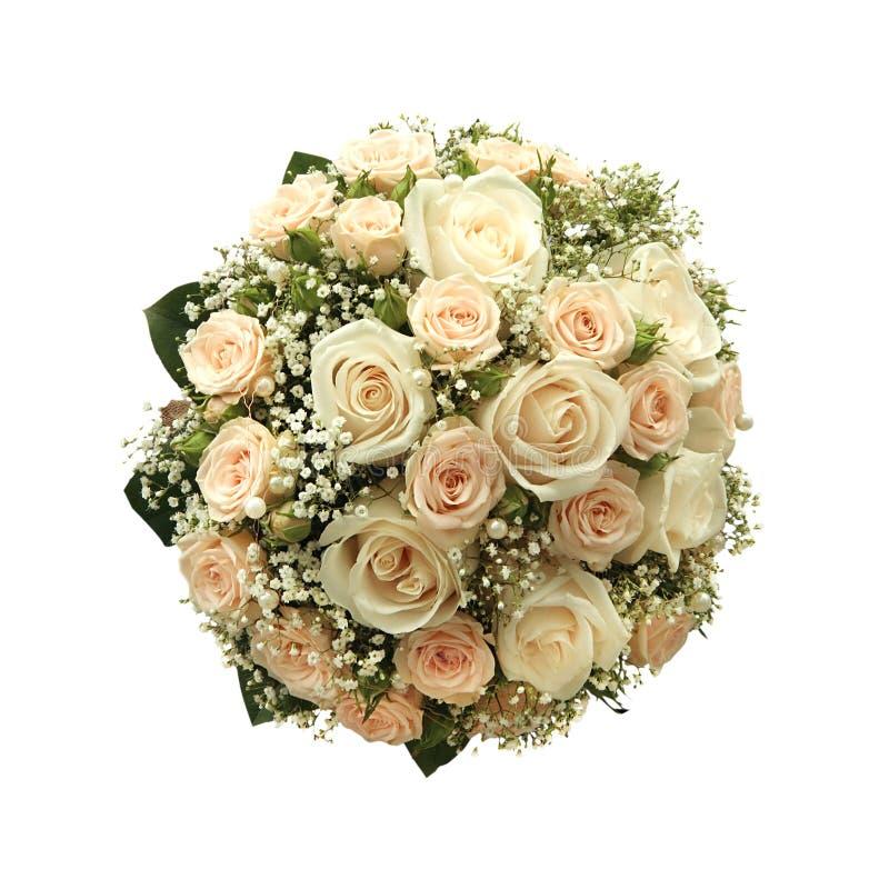Ramalhete do casamento isolado no branco foto de stock royalty free