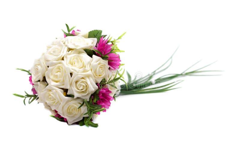 Ramalhete do casamento isolado no branco imagens de stock
