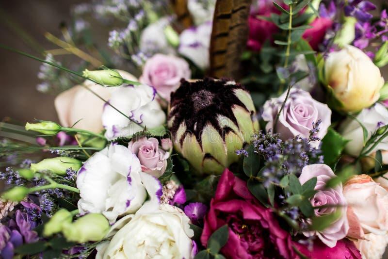 Ramalhete do casamento no estilo do boho imagem de stock royalty free