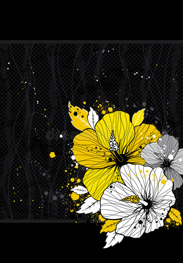 Ramalhete do hibiscus, vetor ilustração do vetor