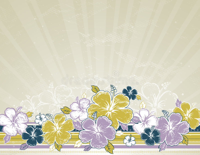 Ramalhete do hibiscus, vetor ilustração royalty free