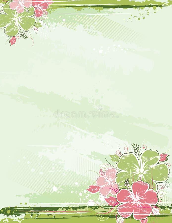 Ramalhete do hibiscus, vetor ilustração stock