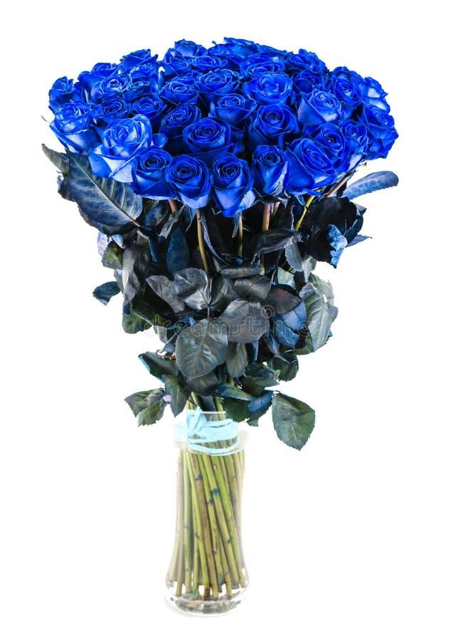 Ramalhete do isolado azul das rosas foto de stock